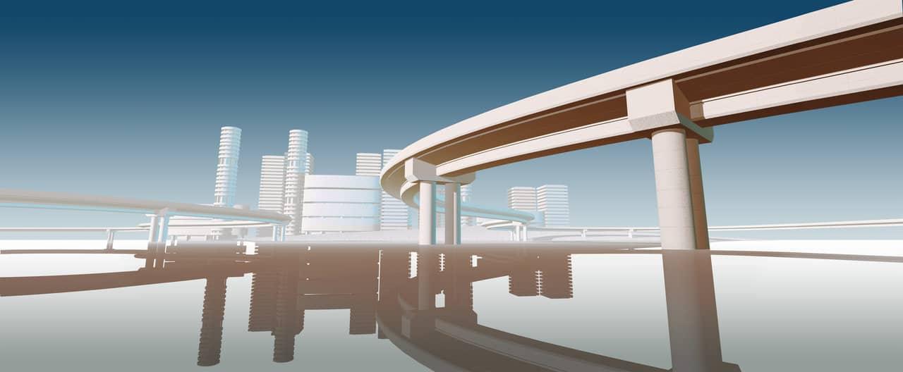 BIM and CAD model of city